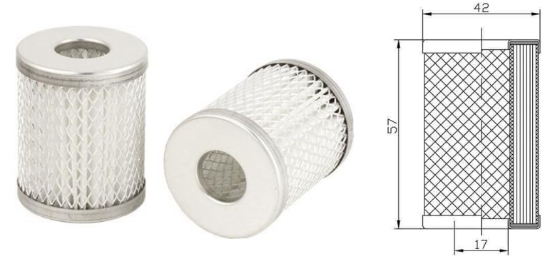 LPG GPL Vapour phase filter BRC polyester FLBRC01