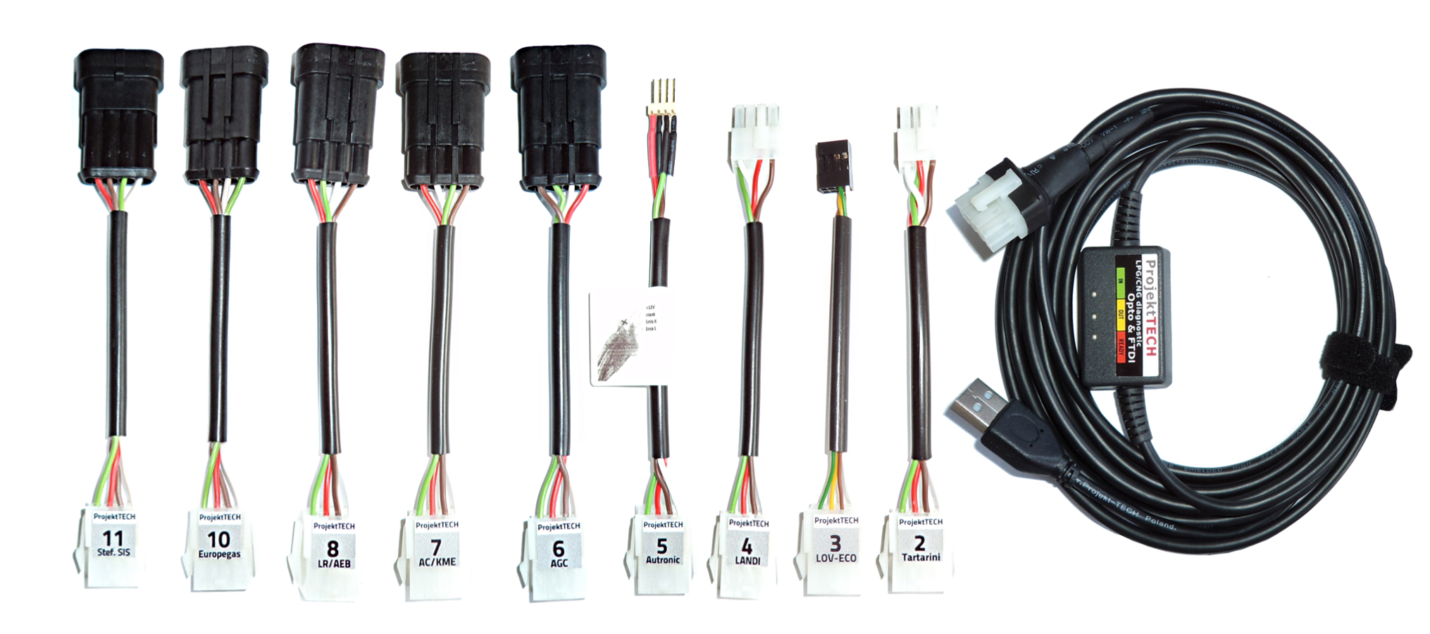 SOFTWARE INTERFACE 5 CONNECTORS LPG CNG USB Interface Kit professional 4 m